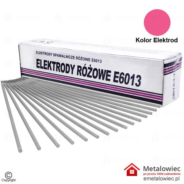 Elektrody Spawalnicze 2.5×350 mm E6013 Rutylowo-Celulozowe Różowe