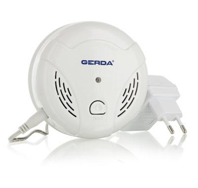 czujnik gazu ziemnego LPG certyfikowany detektor GERDA zasilany sieciowo
