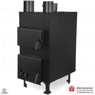 Piec nadmuchowy PN1 10-12 kW z nadmuchem wentylatora do warsztatu lub garażu mały piec na ekogroszek i drewno