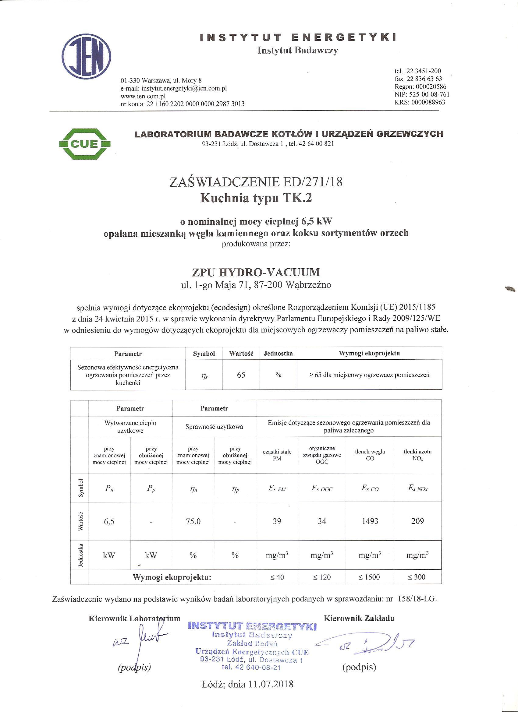 certyfikat ecodesign 1