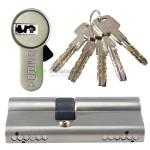 hartowana wkładka bębenkowa z kodem do zamka wpuszczanego na pięć kluczy nawiercanych