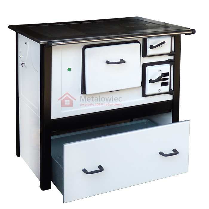 Kuchnia węglowa z szufladą moc 7kW  eMetalowiec pl