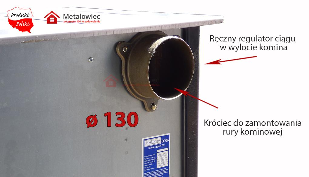 ręczny regulator ciągu w wylocie komina