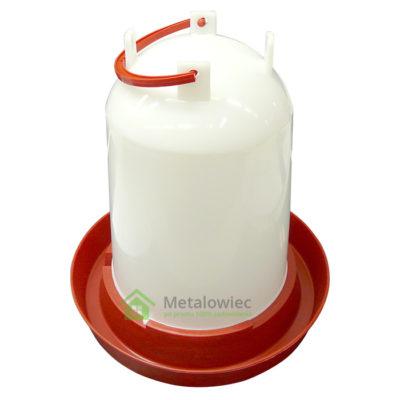 plastikowe poidło dla drobiu z rączką 6 litrów