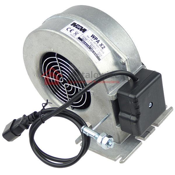 wentylator do pieca dmuchawa aluminiowa z ruchomą klapką