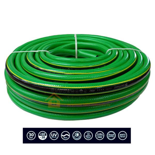 gumowy wąż ogrodowy 5 warstwowy z oplotem z tkaniny