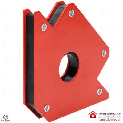 kątownik spawalniczy do spawania z magnesem udźwig 22,5 kg KD1898 156 x 103 x 16 mm Kąt pomiaru 45 90 135 stopni czerwony