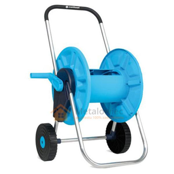 wózek na wąż ogrodowy z korbą z tworzywa i aluminium