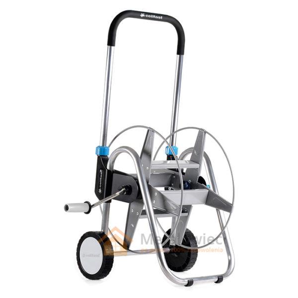 wytrzymały wózek na wąż ogrodowy z metalu