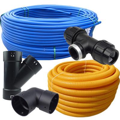 Rury wodne i elementy kanalizacji