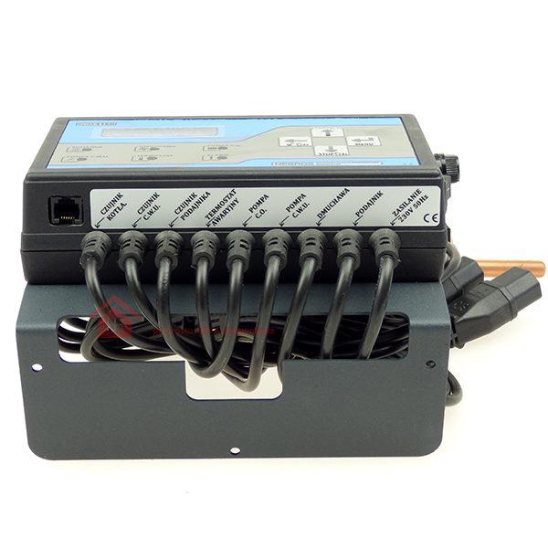 sterownik pieca z podajnikiem 4 czujniki temperatury i 2 pompy