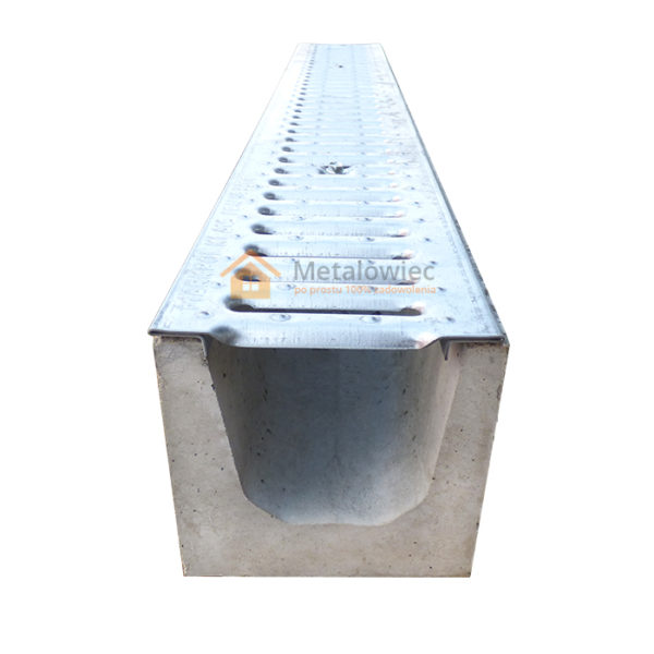 betonowe odwodnienie liniowe z pokrywą ocynkowaną