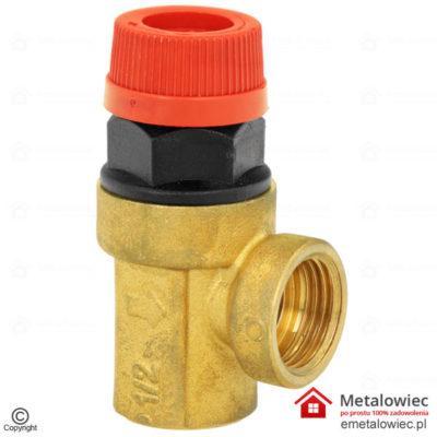 Zawór bezpieczeństwa 2,5 bar z membraną 1/2 cala