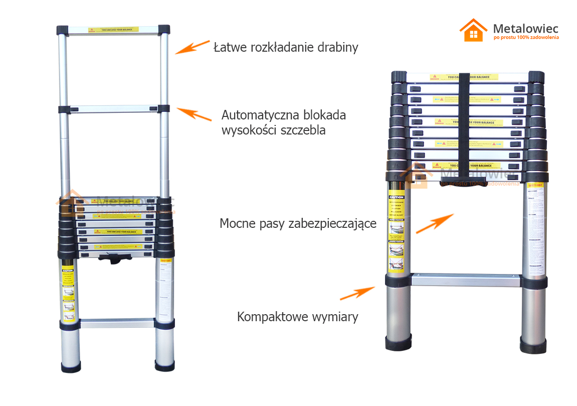 drabina aluminiowa teleskopowa