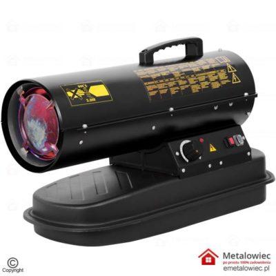 Nagrzewnica Olejowa Drel 20kW CON-NGD-1020 DIESEL Nagrzwenica z regulatorem i termostatem na rope lub na olej napędowy. Dmuchawa olejowa ma promiennik, Piec grzewczy