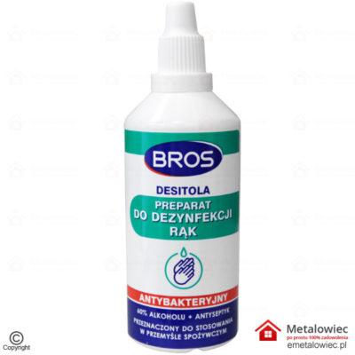 BROS Płyn do dezynfekcji rąk Antybakteryjny 60 Alkoholu Antyseptyczny 100ml antywirusowy