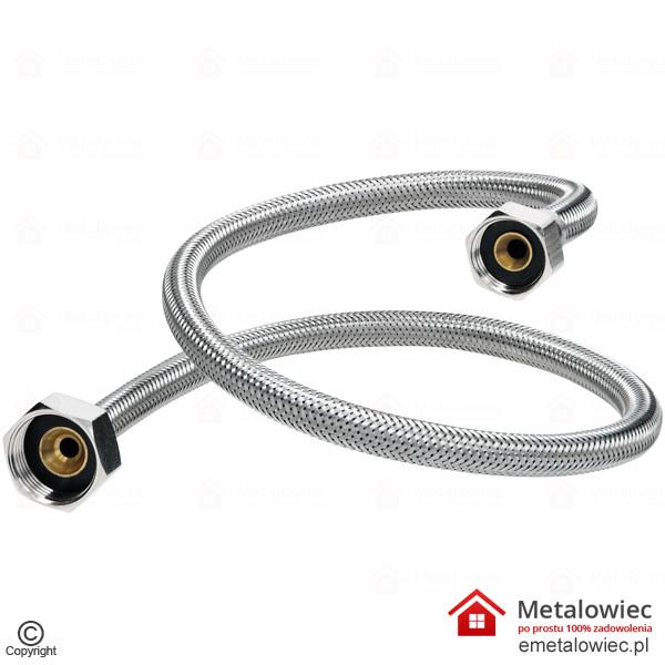 Wąż przyłączeniowy L-500 1/2 na 3/4 cala elastyczny