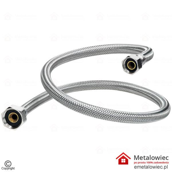 Wąż przyłączeniowy L-800 1/2 na 3/8 cala elastyczny