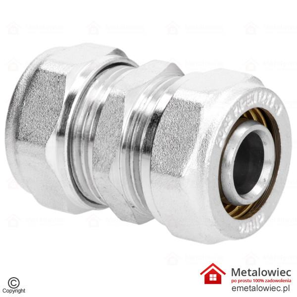 Złączka prosta PEX 20 mm równoprzelotowa skręcana